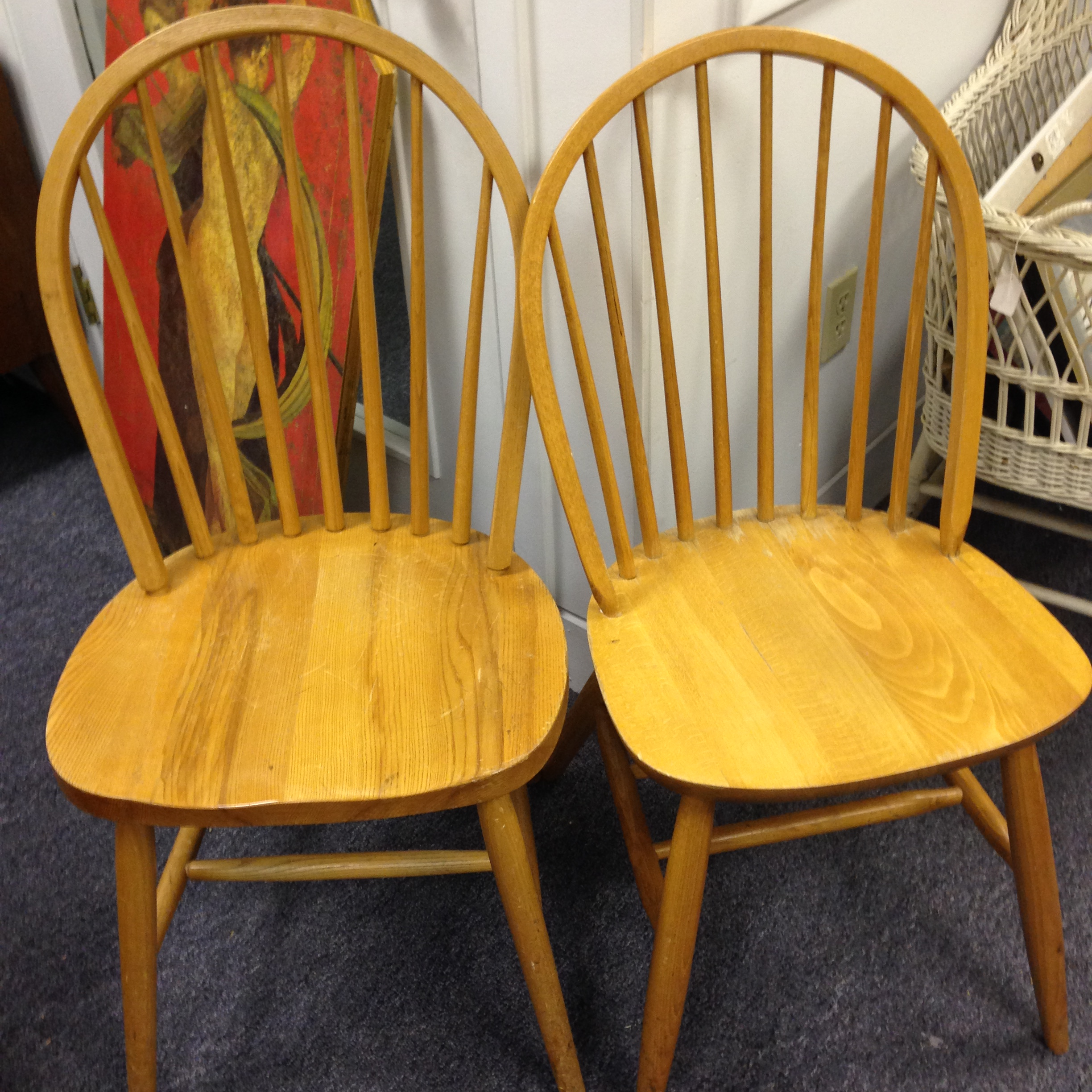 SOLD Windsor Chairs – Probably Oak