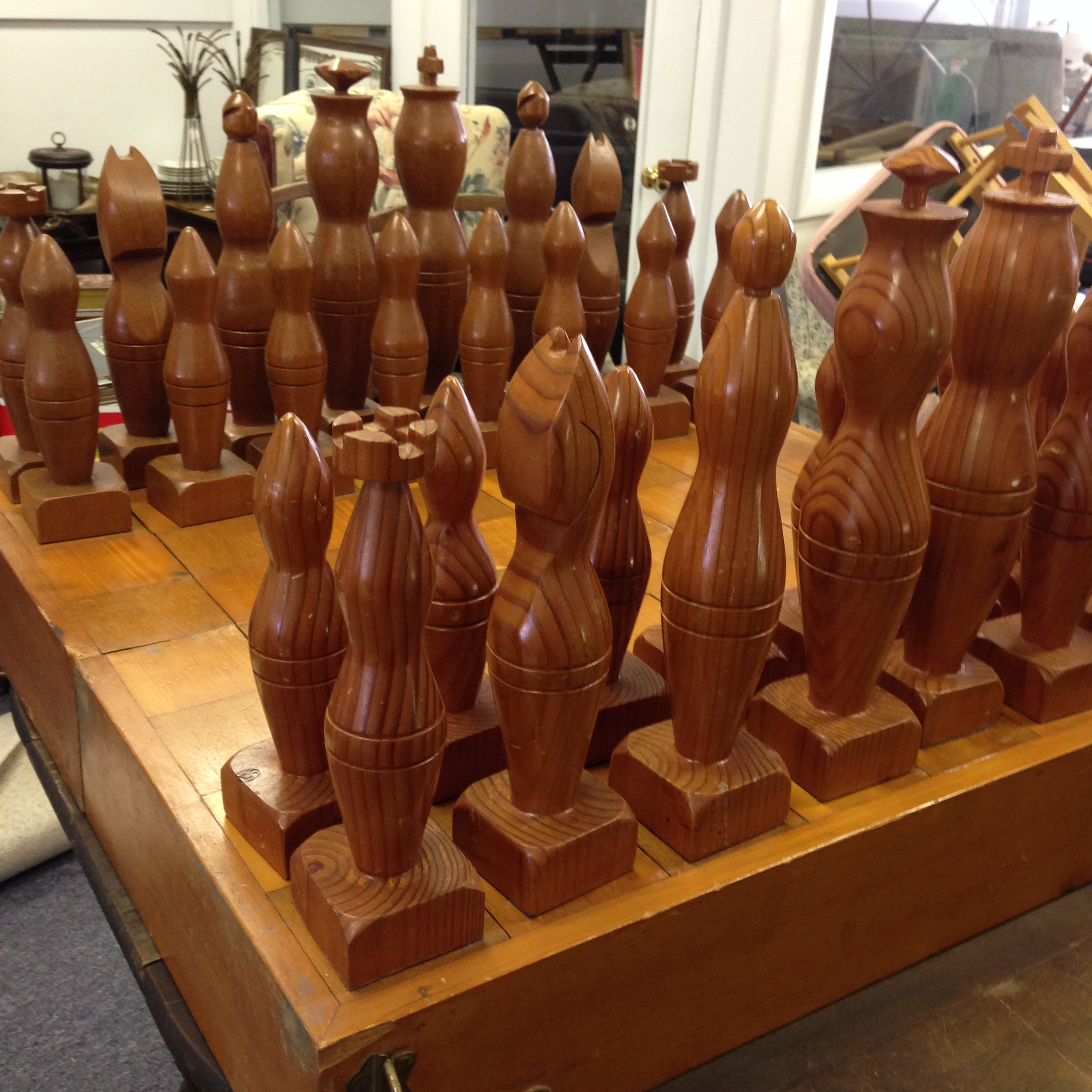 Sold vintage hand crafted chess set heritage collectibles for Hand crafted chess set