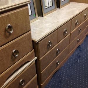 Bedroom Set - Long Dresser 6