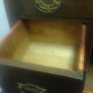 Chest, Small - 3 drawer + cabinet - inside bottom drawer