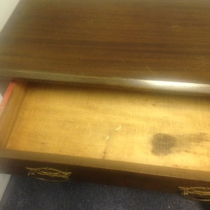 Chest, Small - 3 drawer + cabinet - top drawer