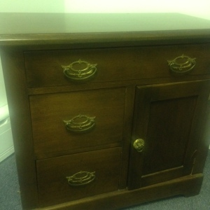 Chest, Small - 3 drawer + cabinet