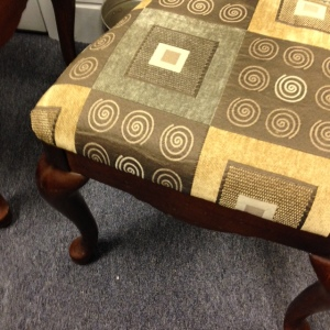 Dining Chairs - Formal, different fabric