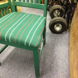 Dining Chairs - Green Stripe 2