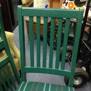 Dining Chairs - Green Stripe 3