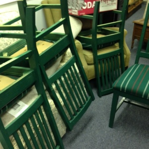 Dining Chairs - Green Stripe