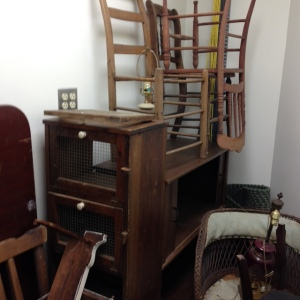 Salvage Closet - a variety of chairs