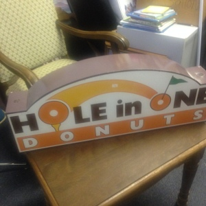 Sign - Hole in One Donuts