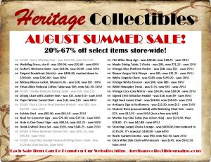 August 2016 Summer Sale List