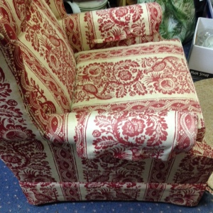 Ethan Allen Red Chair 2