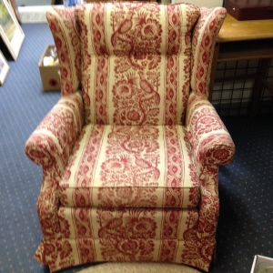 Ethan Allen Red Chair 3