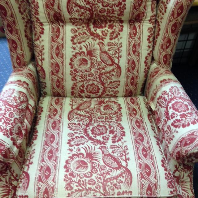 ... Ethan Allen Red Chair 6