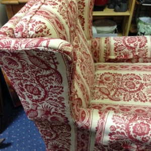 Ethan Allen Red Chair