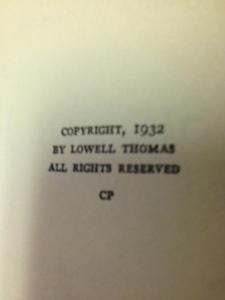 Lowell Thomas books 7