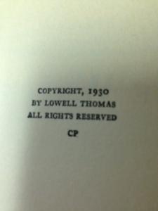 Lowell Thomas books 8
