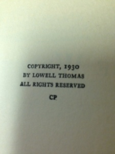 Lowell Thomas books 8