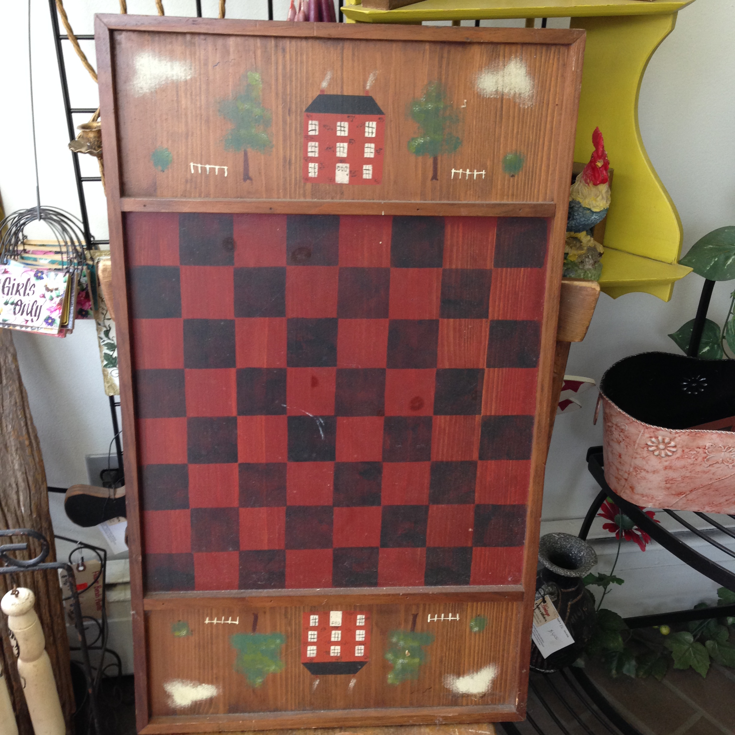 reproduction primitive style country checkerboard great wall
