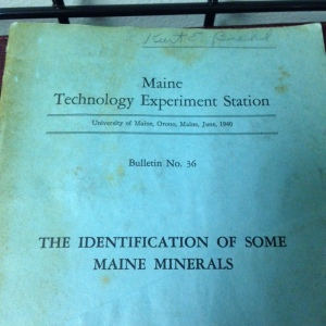 The Identification of Some Maine Minerals