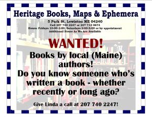 Wanted - Books by Maine Authors