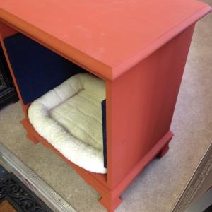 Dog Bed in Pumpkin 8