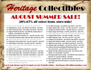 August 2016 Summer Sale List