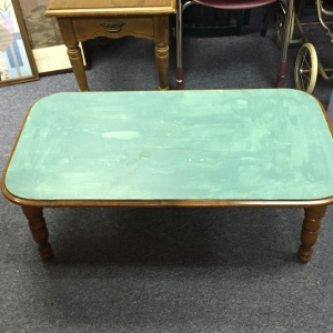 Coffee Table with Blue Top
