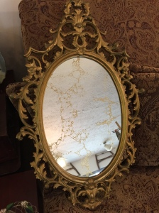 Gold Veined Mirror, 1960s era