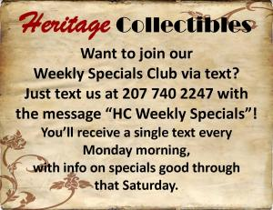 Text Us for Weekly Specials