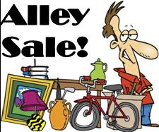 We're having an Alley Sale, Sunday & Monday, September 4 & 5, from 8-12!
