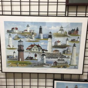 David Merrill, Lighthouses of New England, limited edition print