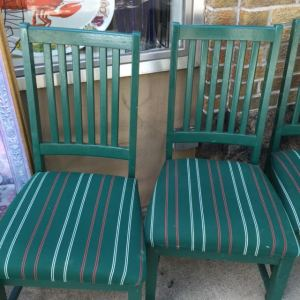 Dining Chairs - Green Stripe 6