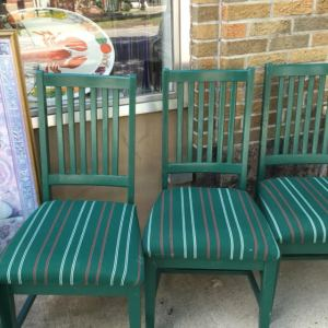 Dining Chairs - Green Stripe 7