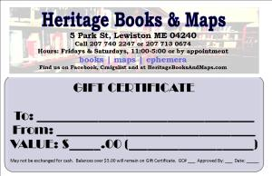 HBM - Gift Certificate - One Up