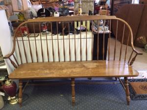 Wonderful vintage deacon's bench