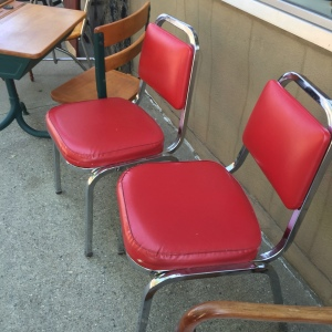 Chairs, 2 Red - outside, 2nd look