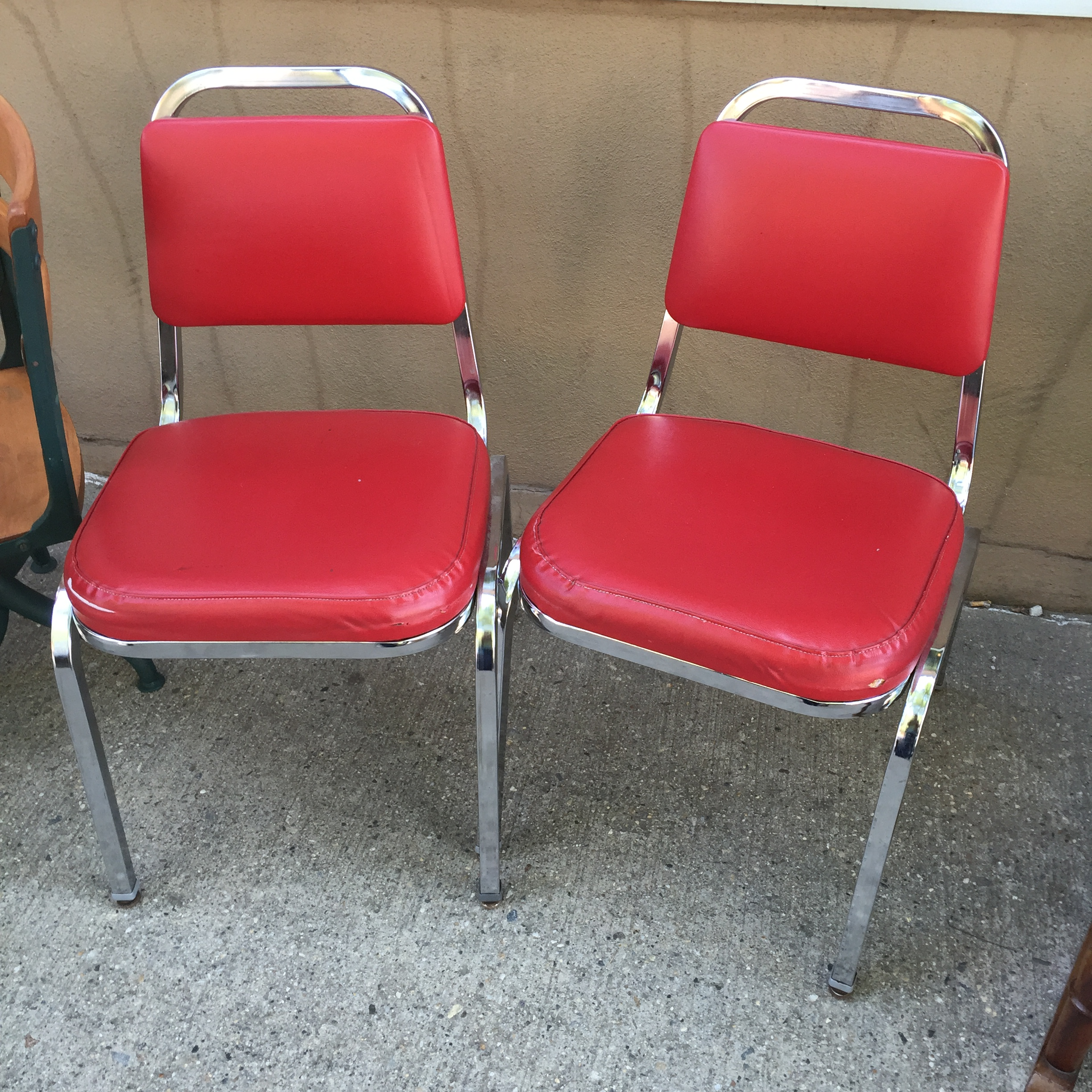SOLD Basic Red Cushioned Chairs