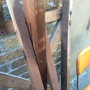 Ironing Board Santa - wooden legs