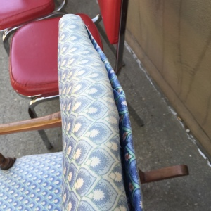 Rocker in Blue, separation of stitching
