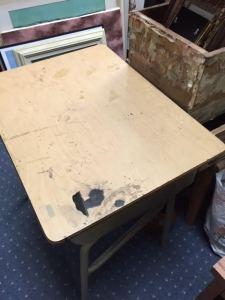 Top of salvage student desk
