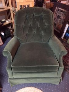 chair-green-velveteen