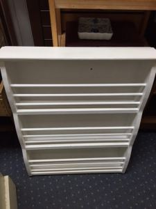 """Shelving/Display Wall Unit - 24.5""""W x 30""""H x 5""""D. We were told this is a Pottery Barn piece; I can't find it online but if it is, it probably cost about $125.00 brand new. Our price is $50.00."""