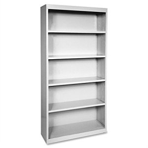 We have 4 steel bookcases similar to the one pictured here. Each is about 7' high with 5 shelves, fully assembled. (Actual picture coming soon.) Comparable price brand new is +/- $200; ours are $85 each or $300 for all 4.