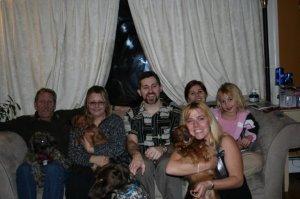 Christmas 2008 with his kids