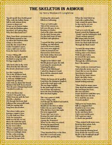 The Skeleton in Armour by Henry Wadsworth Longfellow. One of John's favorite poems.