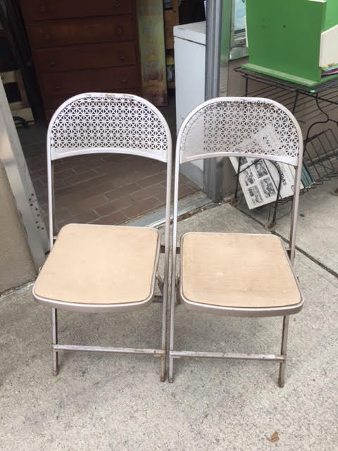 Vintage Retro Folding Chairs