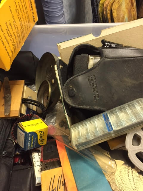 Box of Miscellaneous Cameras and Camera Supplies