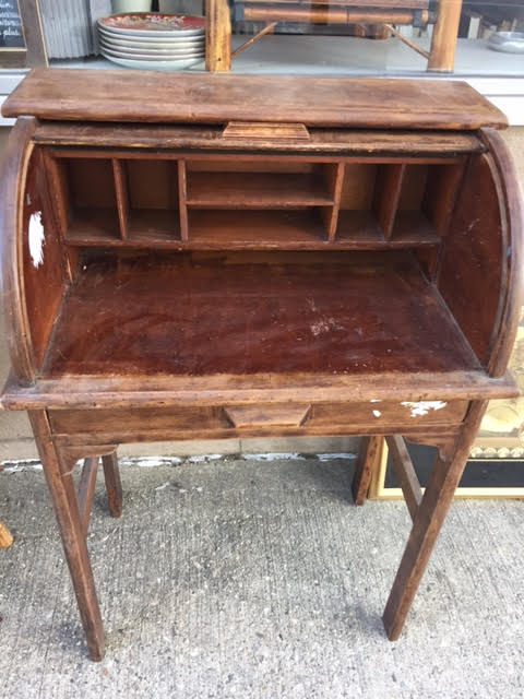 About a year ago we sold a similar child's roll top desk, but it wasn't in  as good condition as this one is. - SOLD! Antique Child's Rolltop Desk Heritage Collectibles