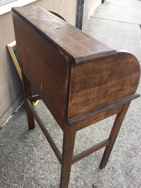 """Shipping & Delivery Information: Please see our """"Details: Shipping &  Delivery"""" page. - SOLD! Antique Child's Rolltop Desk Heritage Collectibles"""