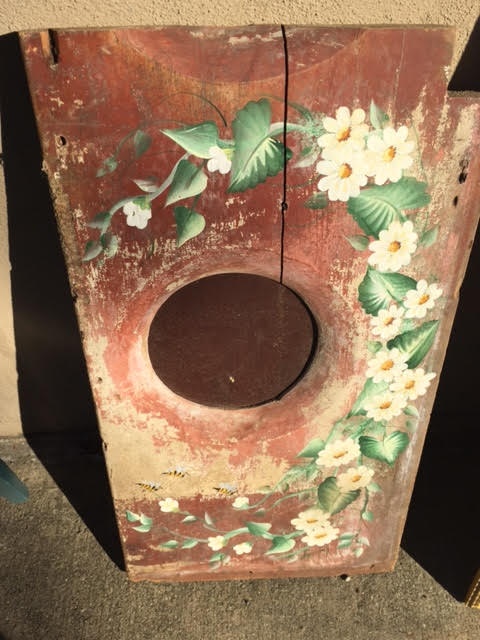 Must Have, One of a Kind, Folk Art – A Vintage Painted Outhouse Seat!