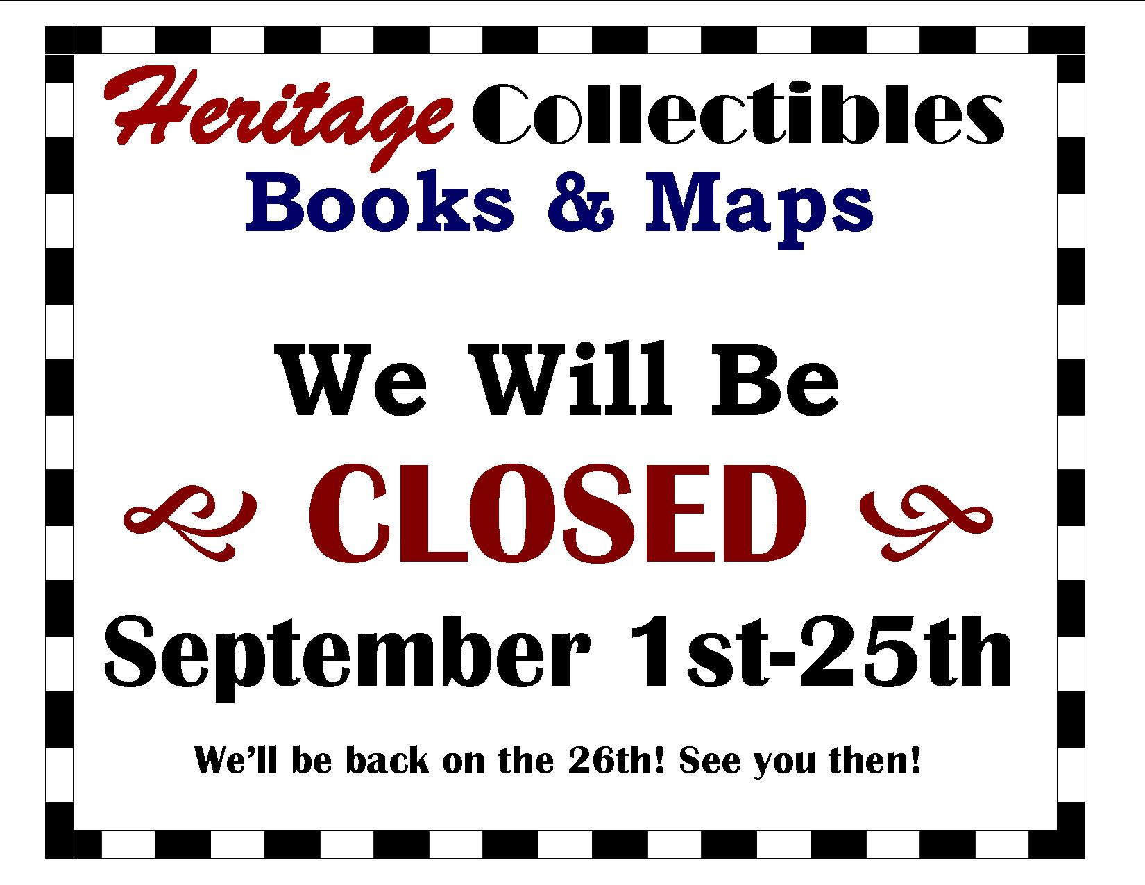 Reminder: We Are Closed Through September 25, While We Are Visiting Our New Grandson!